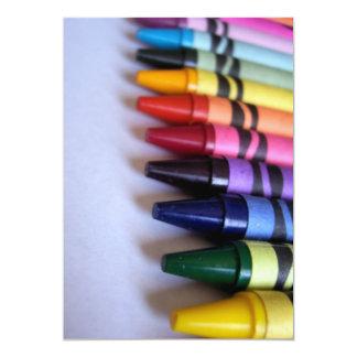 Crayons 13 Cm X 18 Cm Invitation Card
