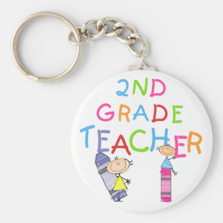 Crayons 2nd Grade Teacher Tshirts and Gifts Key Ring