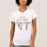 Crayons 4th Grade Teacher T-shirts and Gifts
