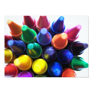 "Crayons 5.5"" X 7.5"" Invitation Card"
