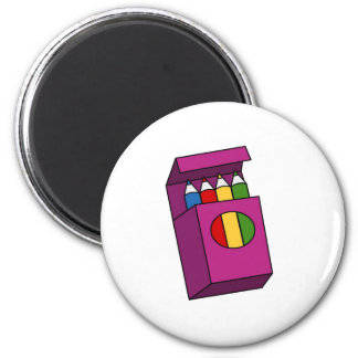 crayons 6 cm round magnet