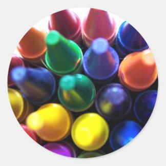 Crayons! Classic Round Sticker