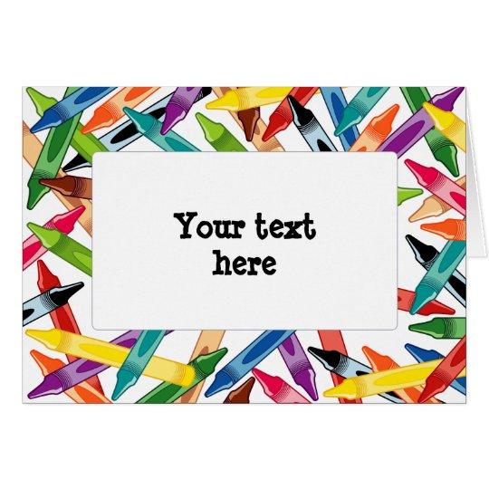 Crayons Frame Card