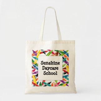 Crayons Frame Tote Bag