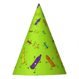 crayons party hat