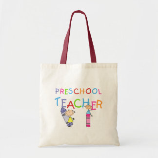 Crayons Preschool Teacher TShirts and Gifts Tote Bag