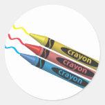 Crayons! Round Stickers