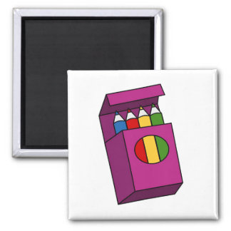 crayons square magnet