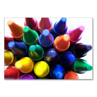 Crayons Table Card