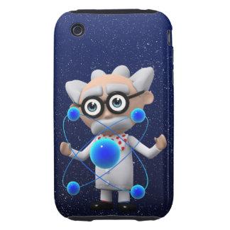 Crazy 3d Mad Scientist Atomic (editable) Tough iPhone 3 Cover