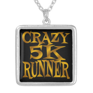 Crazy 5K Runner in Gold Silver Plated Necklace