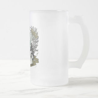 CRAZY 88 BEER MUSCLES FROSTED GLASS MUG