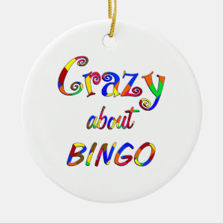 Crazy About Bingo Ceramic Ornament