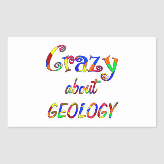 Crazy about Geology Rectangle Sticker
