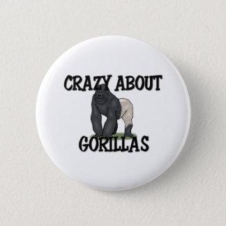 Crazy About Gorillas 6 Cm Round Badge
