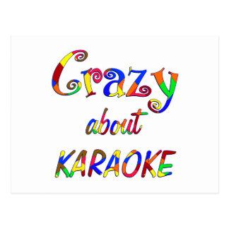 Crazy About Karaoke Postcard