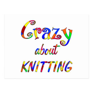 Crazy About Knitting Postcards