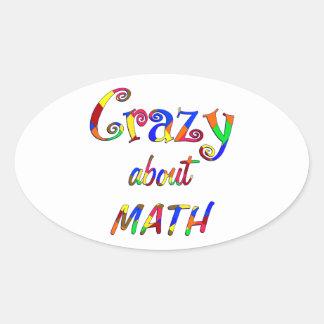 Crazy about Math Oval Sticker