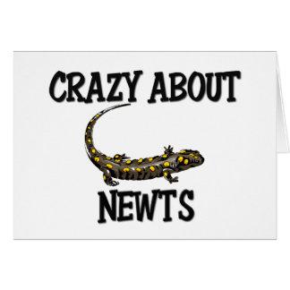 Crazy About Newts Card