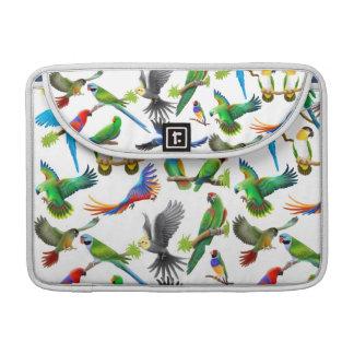 Crazy About Parrots Rickshaw Flap Sleeve MacBook Pro Sleeve