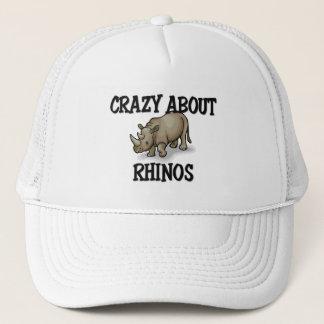 Crazy About Rhinos Trucker Hat