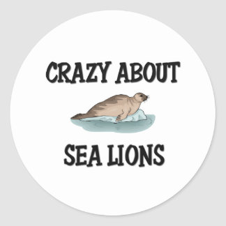 Crazy About Sea Lions Round Sticker