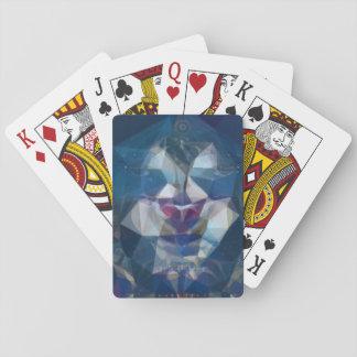 Crazy abstract blueface card deck poker deck