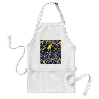 Crazy abstract feelings,blue aprons