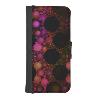 Crazy Abstract Iphone5 Faux Leather Wallet Case