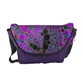 Crazy Abstract Pattern Rickshaw Messenger Bag