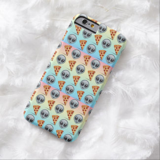 Crazy Aliens & Pizza Emoji Pattern Barely There iPhone 6 Case
