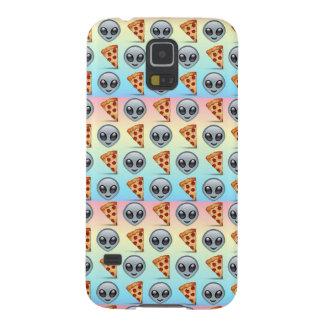 Crazy Aliens & Pizza Emoji Pattern Galaxy S5 Cases