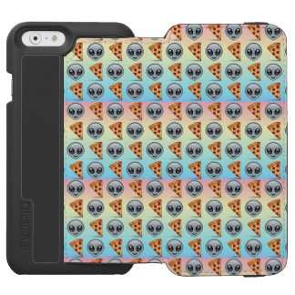 Crazy Aliens & Pizza Emoji Pattern Incipio Watson™ iPhone 6 Wallet Case