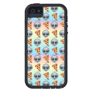 Crazy Aliens & Pizza Emoji Pattern iPhone 5 Cases