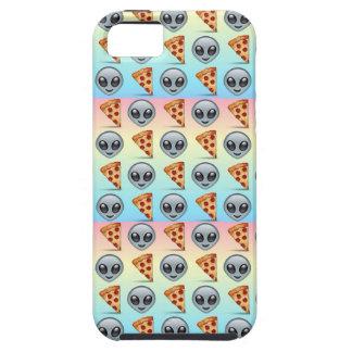 Crazy Aliens & Pizza Emoji Pattern iPhone 5 Cover
