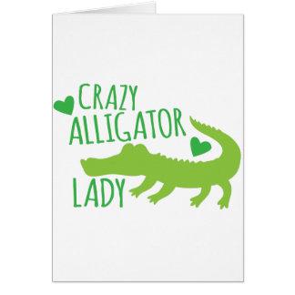crazy alligator lady card