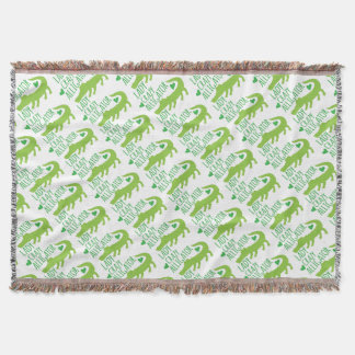 crazy alligator lady throw blanket