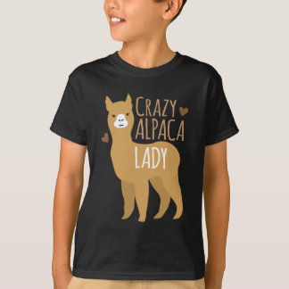 Crazy alpaca lady shirt