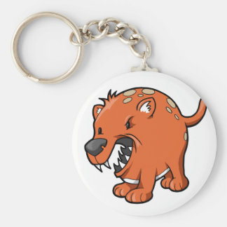 Crazy Angry Rat Dog Button Key Chains