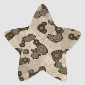 Crazy Animal Print Abstract Star Sticker