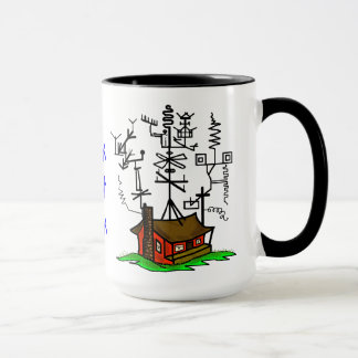 Crazy Antenna Ham Radio Home Coffee Mug