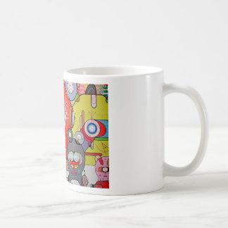 crazy art basic white mug