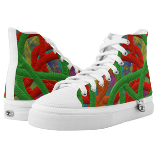 Crazy Art High Top Shoes Printed Shoes