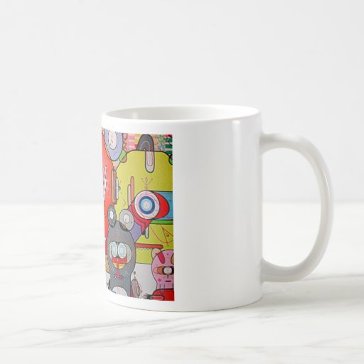 crazy art coffee mugs