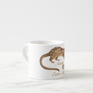 Crazy Australian Quoll Eats Anything Aussie Humor Espresso Mugs