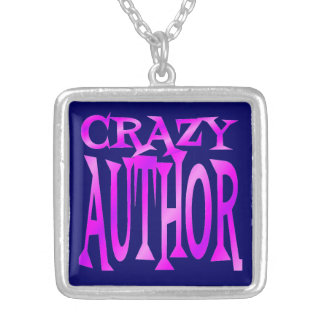 Crazy Author in Pink Square Pendant Necklace