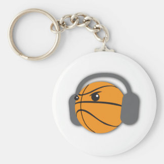 Crazy Basketball Basic Round Button Key Ring
