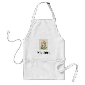 crazy bbq., lets cook standard apron