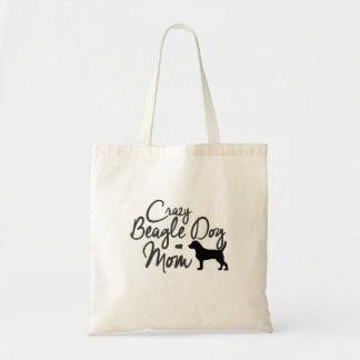 Crazy Beagle Dog Mom Tote Bag