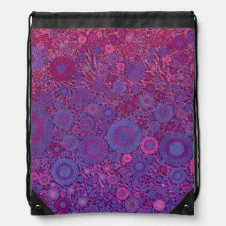 Crazy Beautiful Abstract Drawstring Bag